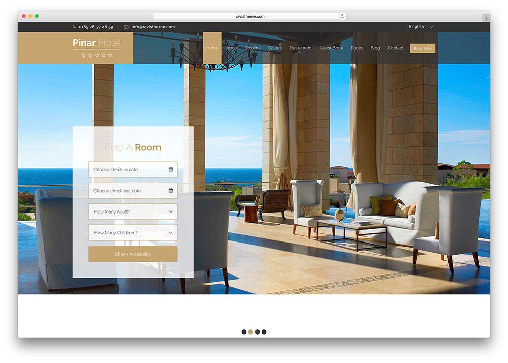 Web pre ubytovacie zariadenie hotel penzi n chatu u od for Design hotel website