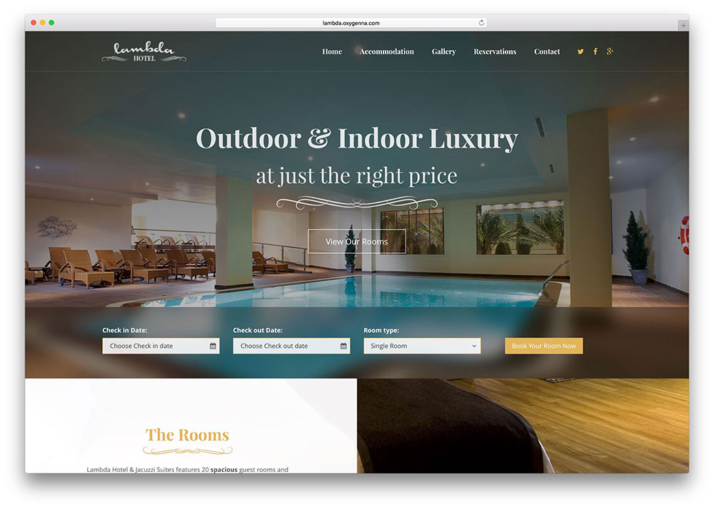 Web pre ubytovacie zariadenie hotel penzi n chatu u od for Ideal hotel design booking