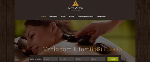 Webové stránky pre Kúpaliska- Masážny salón Kosice