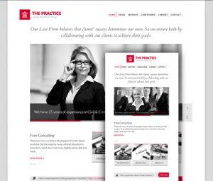 Web pre Právny servis a služby