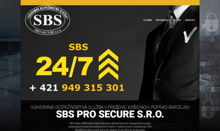SBS sbs-pro-secure.sk