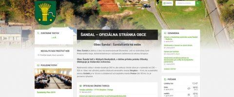Webová stránka pre obce, mesta, občianské združenia a neziskovky